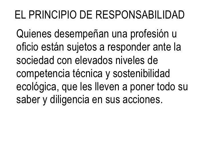 Un profesional es Responsable y Etico ante su Profesión<br />Negando permiso de actuar en su nombre a personas que no sea ...