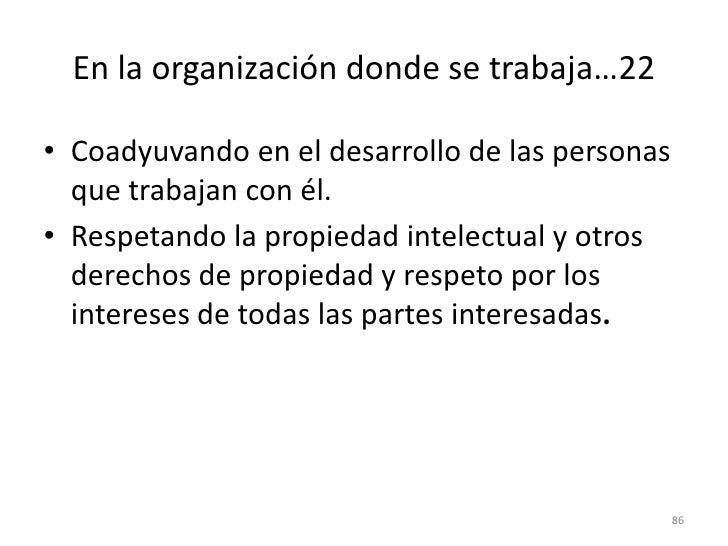 78<br />En la organización donde se trabaja…16<br />Enviando material de promoción tanto de su empresa como de su persona ...