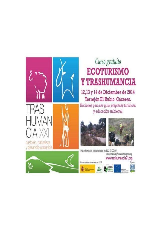 #turismo : Trashumancia y Ecoturismo