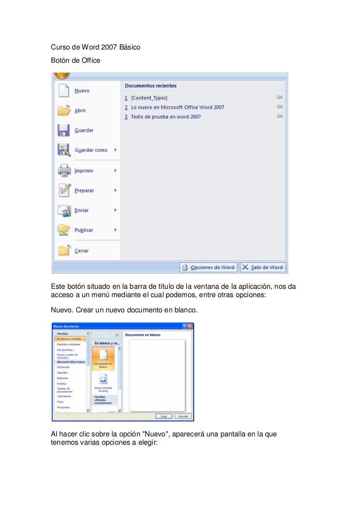 Curso de word 2007 básico