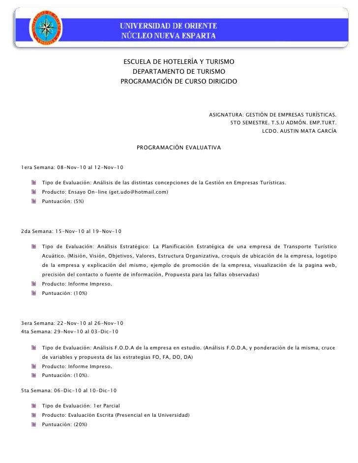 -133019-290223<br />ESCUELA DE HOTELERÍA Y TURISMO<br />DEPARTAMENTO DE TURISMO<br />PROGRAMACIÓN DE CURSO DIRIGIDO<br />A...