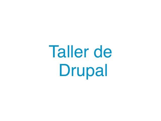 Taller de Drupal