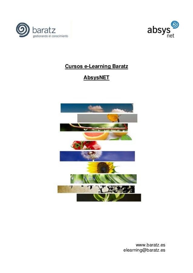 Cursos e-Learning BaratzAbsysNETwww.baratz.eselearning@baratz.es