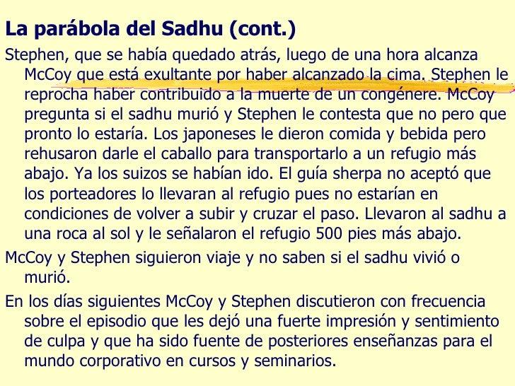 parabola del sadhu La parabola del sadhu 1 la parÁbola del sadhu conflicto de valores y dilemas morales 2 la parábola del sadhu li.