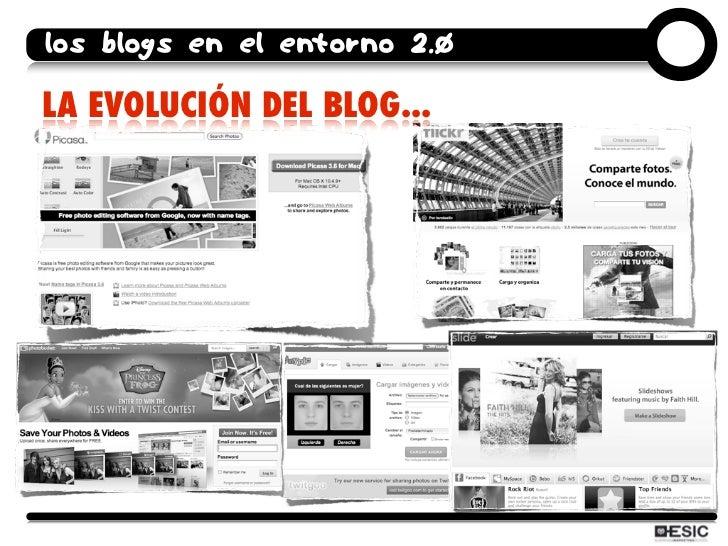 los blogs en el entorno 2.0  LA EVOLUCIÓN DEL BLOG...