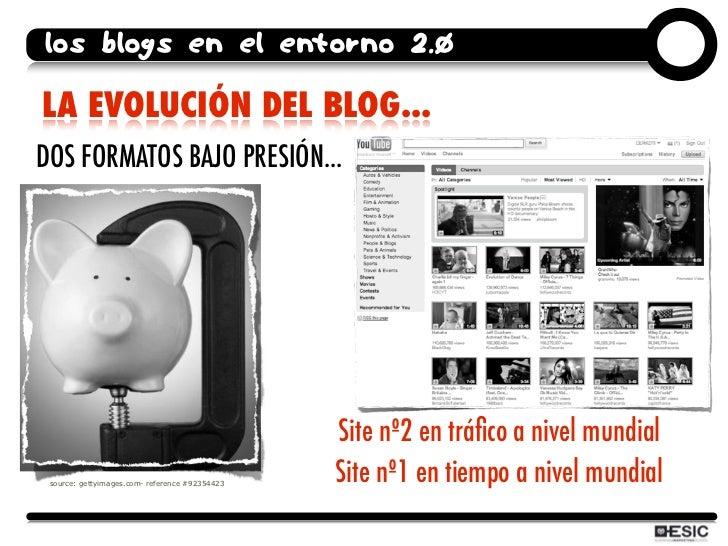 los blogs en el entorno 2.0  LA EVOLUCIÓN DEL BLOG... DOS FORMATOS BAJO PRESIÓN...                                        ...