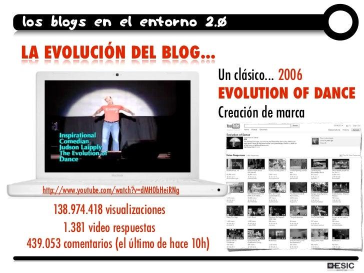los blogs en el entorno 2.0  LA EVOLUCIÓN DEL BLOG...                                                 Un clásico... 2006  ...