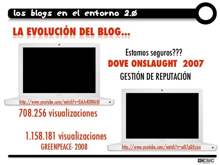 los blogs en el entorno 2.0  LA EVOLUCIÓN DEL BLOG...                                                  Estamos seguros??? ...