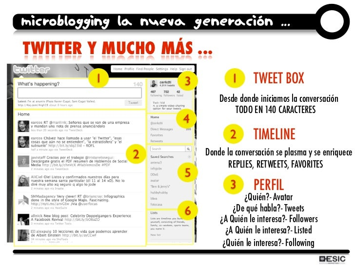 microblogging la nueva generación ... TWITTER Y MUCHO MÁS ...           1           3           1      TWEET BOX          ...