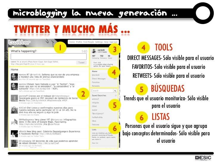microblogging la nueva generación ... TWITTER Y MUCHO MÁS ...           1           3             4      TOOLS            ...