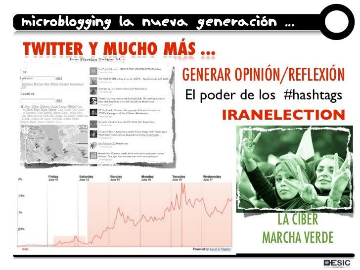 microblogging la nueva generación ... TWITTER Y MUCHO MÁS ...                      GENERAR OPINIÓN/REFLEXIÓN              ...