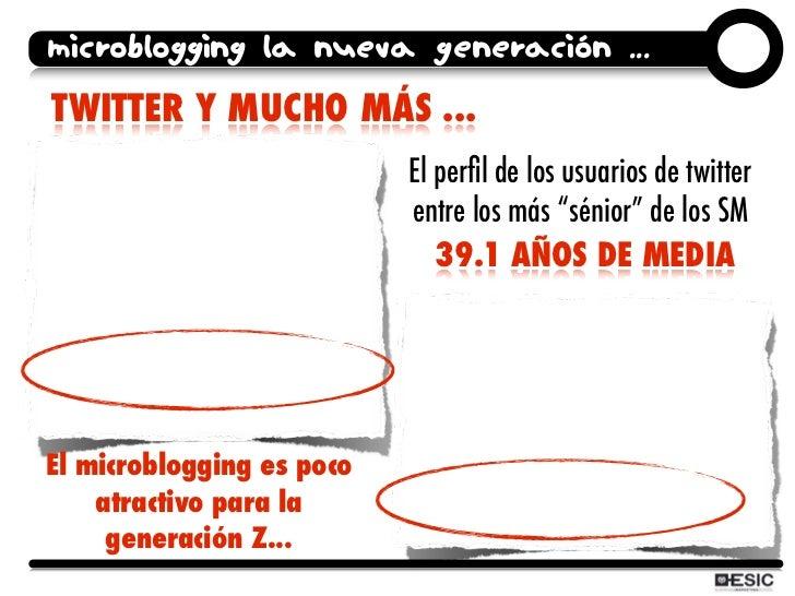 microblogging la nueva generación ... TWITTER Y MUCHO MÁS ...                            El perfil de los usuarios de twitt...