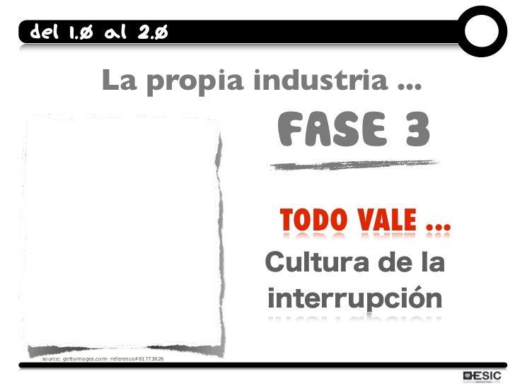 Del 1.0 al 2.0                       La propia industria ...                                                FASE 3        ...