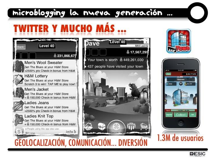 microblogging la nueva generación ... TWITTER Y MUCHO MÁS ...                                                  1.3M de usu...