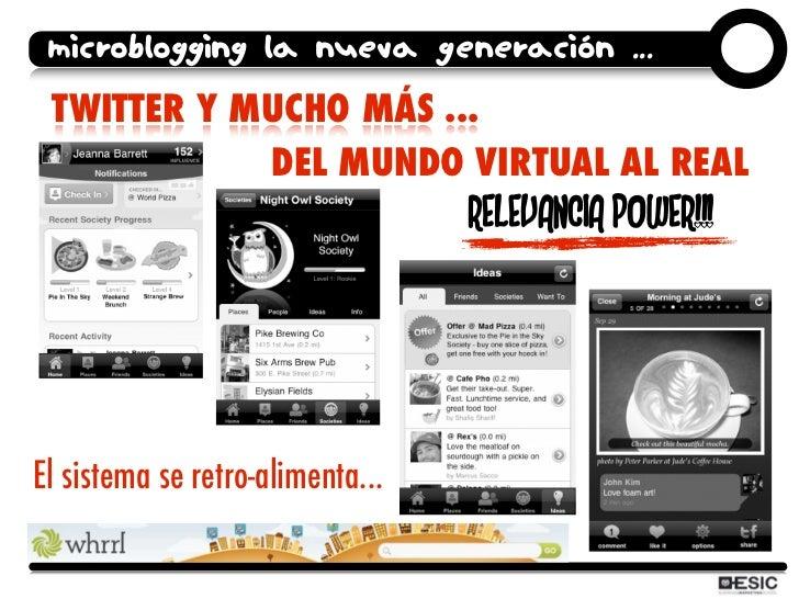 microblogging la nueva generación ...  TWITTER Y MUCHO MÁS ...             DEL MUNDO VIRTUAL AL REAL                      ...