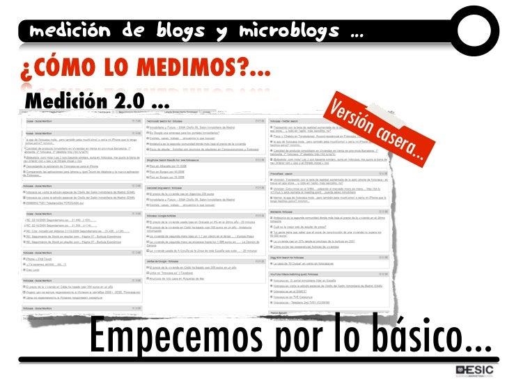 medición de blogs y microblogs ... ¿CÓMO LO MEDIMOS?... Medición 2.0 ...              Vers                                ...