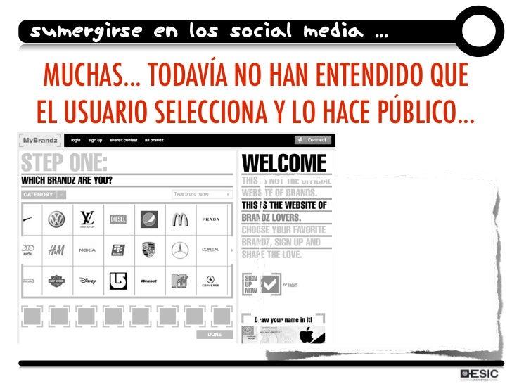SUMERGIRSE EN LOS SOCIAL MEDIA ...   MUCHAS... TODAVÍA NO HAN ENTENDIDO QUE EL USUARIO SELECCIONA Y LO HACE PÚBLICO...