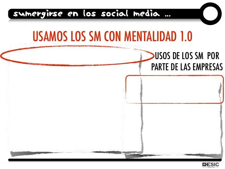 SUMERGIRSE EN LOS SOCIAL MEDIA ...      USAMOS LOS SM CON MENTALIDAD 1.0                               USOS DE LOS SM POR ...