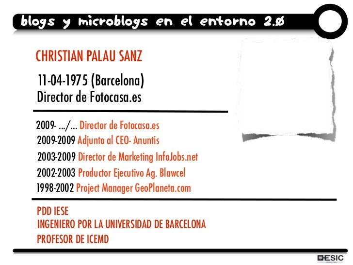 Curso ESIC Redes Sociales: blogs and microblogs Slide 2
