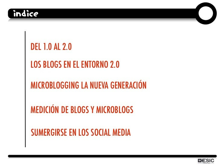 Curso ESIC Redes Sociales: blogs and microblogs Slide 3