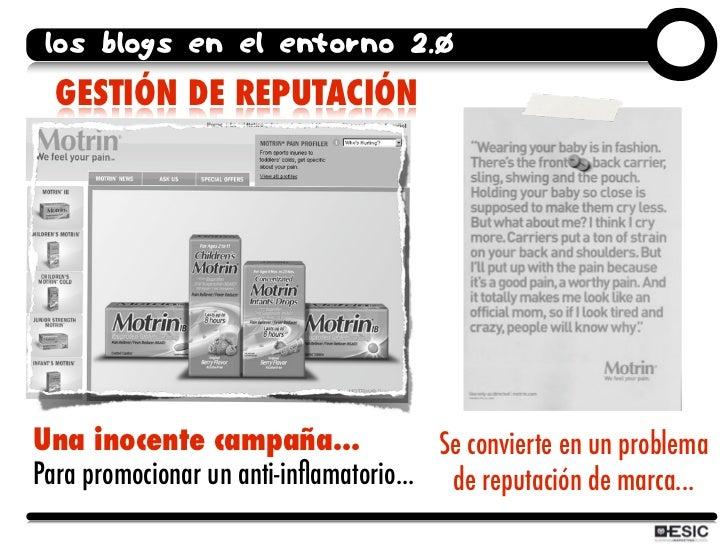 los blogs en el entorno 2.0   GESTIÓN DE REPUTACIÓN     Una inocente campaña...                 Se convierte en un problem...