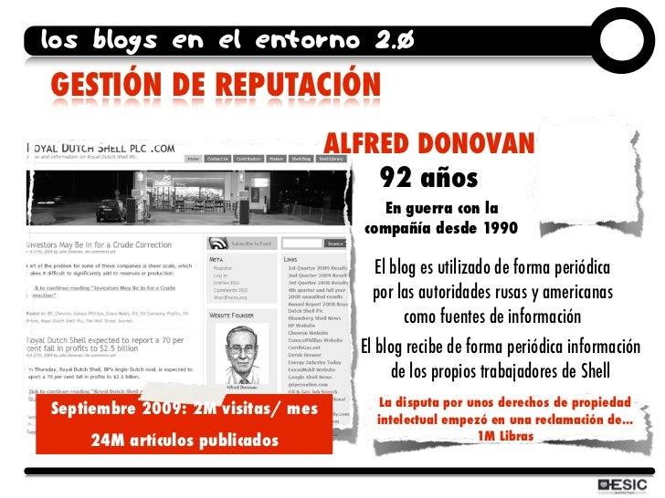 los blogs en el entorno 2.0 GESTIÓN DE REPUTACIÓN                                    ALFRED DONOVAN                       ...