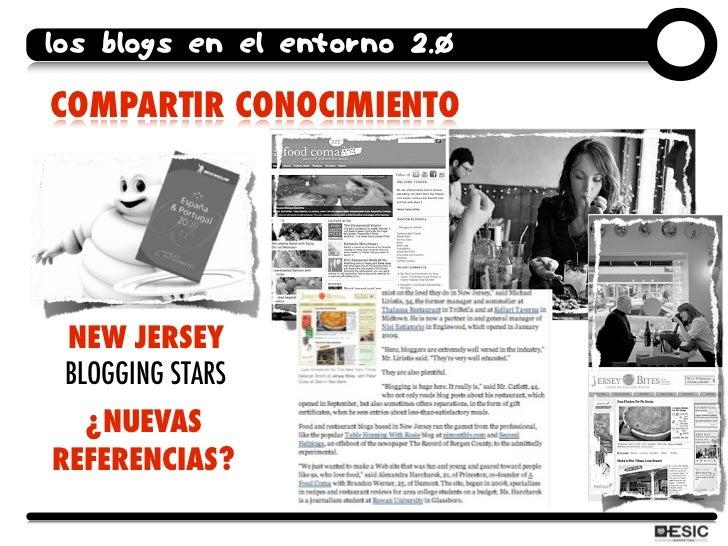 los blogs en el entorno 2.0  COMPARTIR CONOCIMIENTO      NEW JERSEY  BLOGGING STARS   ¿NUEVAS REFERENCIAS?