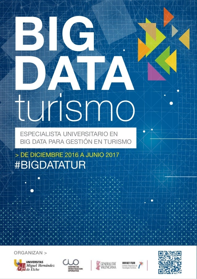 ORGANIZAN > ESPECIALISTA UNIVERSITARIO EN BIG DATA PARA GESTIÓN EN TURISMO