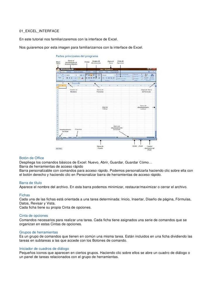 01_EXCEL_INTERFACEEn este tutorial nos familiarizaremos con la interface de Excel.Nos guiaremos por esta imagen para famil...