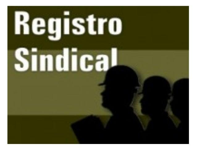 Regras para o registro sindical