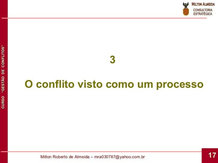 3  O conflito visto como um processo