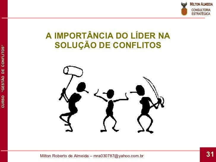 A IMPORTÂNCIA DO LÍDER NA SOLUÇÃO DE CONFLITOS