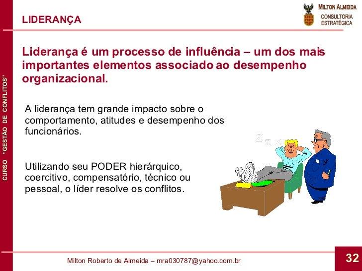 LIDERANÇA A liderança tem grande impacto sobre o comportamento, atitudes e desempenho dos funcionários. Utilizando seu POD...