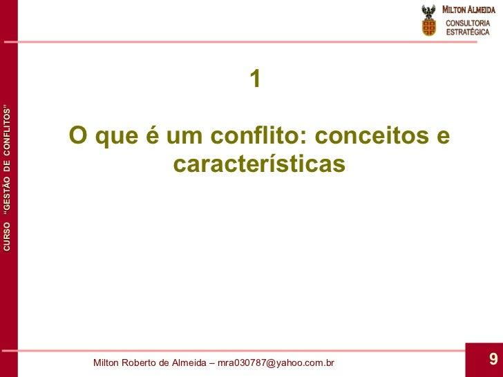 1  O que é um conflito: conceitos e características