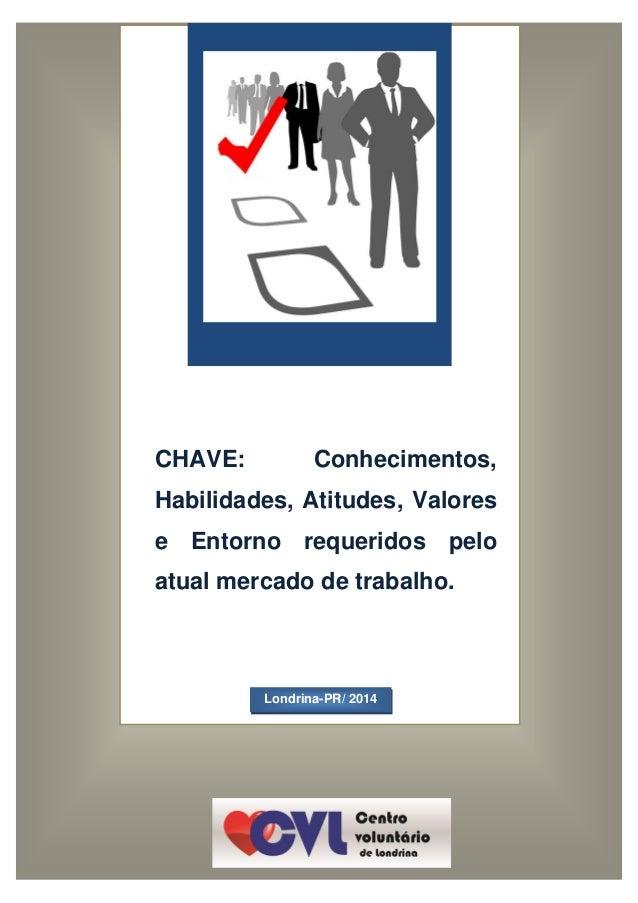 CHAVE: Conhecimentos, Habilidades, Atitudes, Valores e Entorno requeridos pelo atual mercado de trabalho. Londrina-PR/ 2014