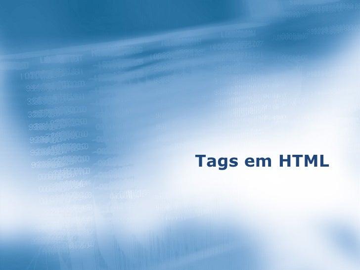 Tags em HTML