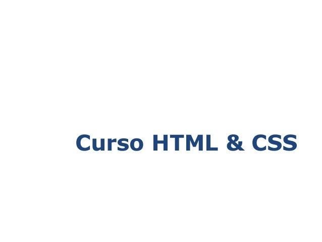 Curso HTML & CSS