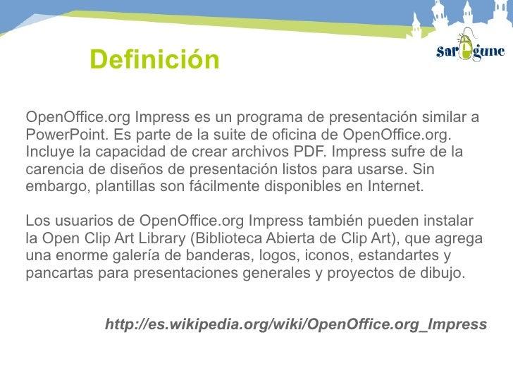 Curso writer e impress for Oficina abierta definicion