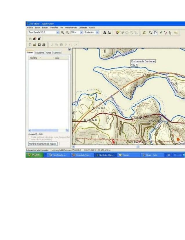Otro problema es que en el GPS se ve mejor y más claro el TopoHispania que el V3. Ahi van dos capturas del GPS, pantallazo...