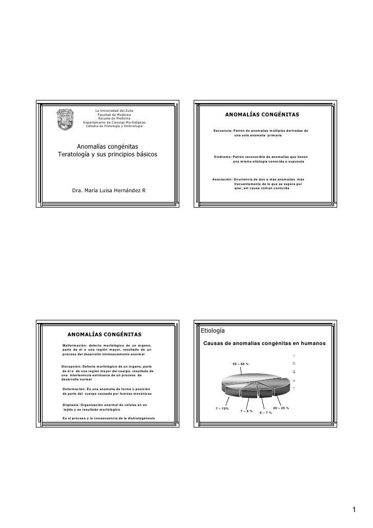 La Universidad del Zulia                      Facultad de Medicina                            ANOMALÍAS CONGÉNITAS        ...