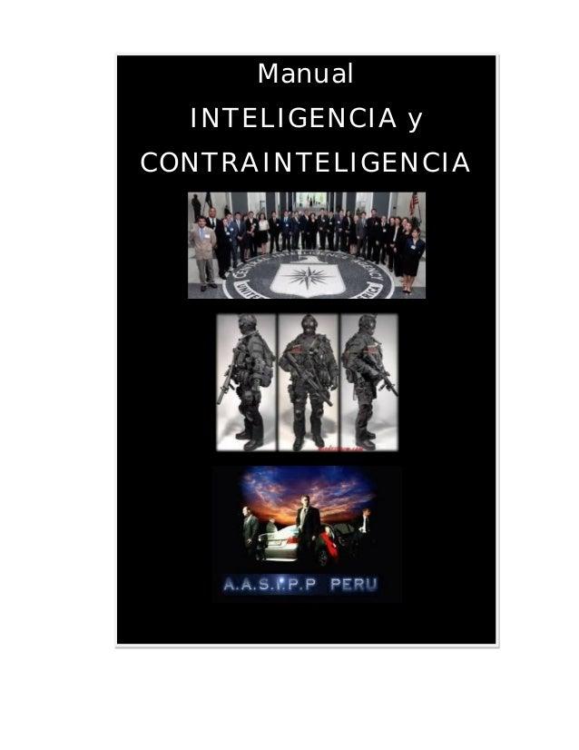Manual de inteligencia y contrainteligencia: agapea libros urgentes.