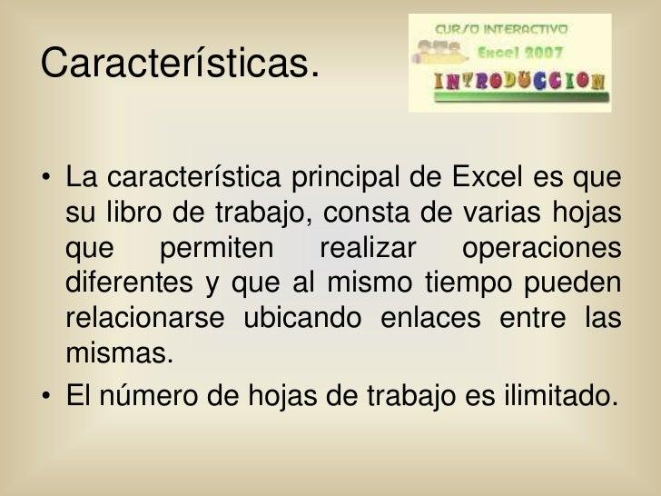 Curso interactivo de excel for Cuales son las caracteristicas de una oficina