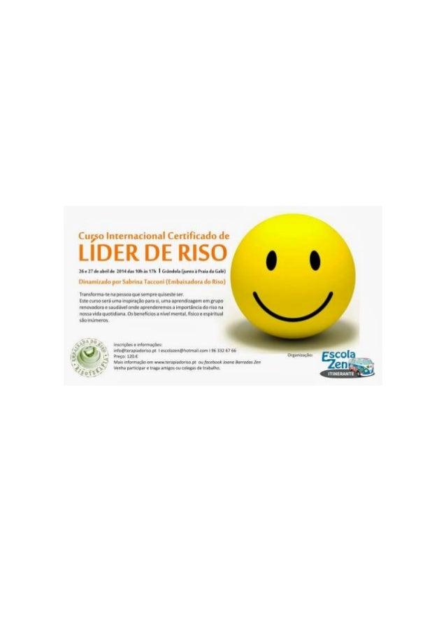 Curso internacional certificado de líder de riso   grândola
