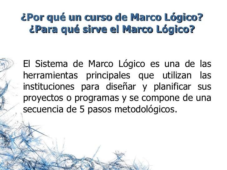 Marco Logico Slide 2