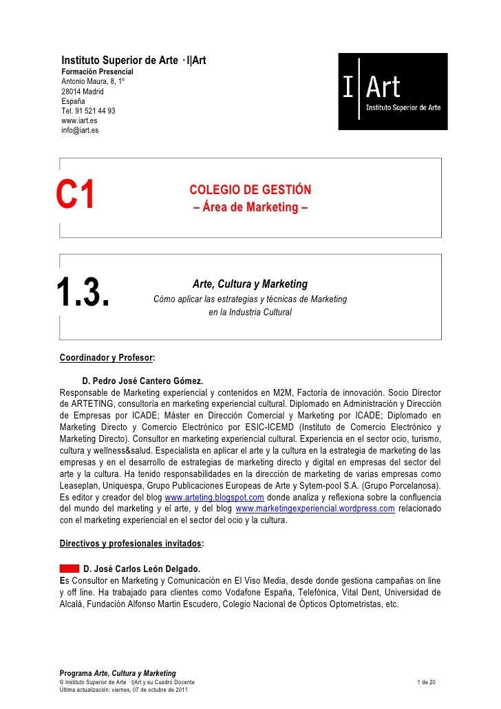 Curso marketing cultural IART 2011 12