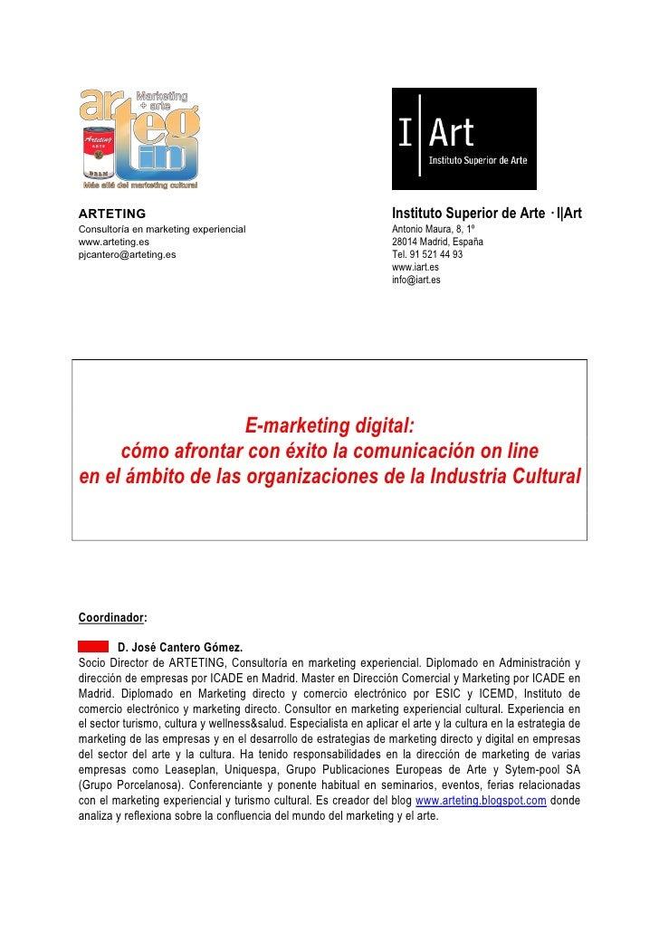 ARTETING                                                            Instituto Superior de Arte — I|Art Consultoría en mark...