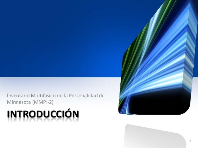 MMPI-2 Lineas Generales para su Aplicación y Calificación slideshare Slide 2