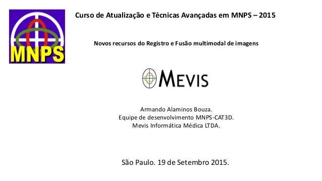 Curso de Atualização e Técnicas Avançadas em MNPS – 2015 Novos recursos do Registro e Fusão multimodal de imagens Armando ...