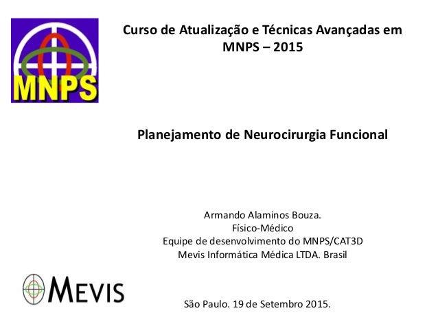 Curso de Atualização e Técnicas Avançadas em MNPS – 2015 Planejamento de Neurocirurgia Funcional Armando Alaminos Bouza. F...