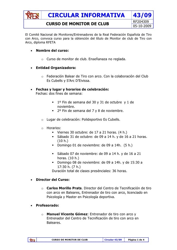 CIRCULAR INFORMATIVA                                     43/09                                                            ...